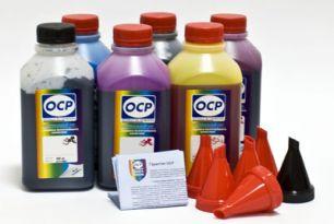 Чернила OCP для принтера и МФУ Canon MG6140, MP980 (BK35, BK123, BK124, C154, M144, Y144) Safe Set, комплект 500 гр. x 6
