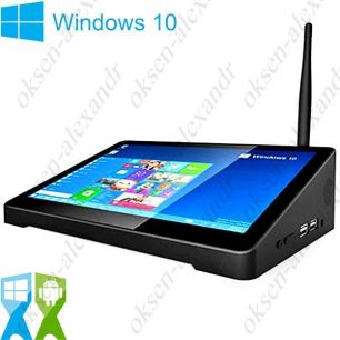"Мини ПК PIPO X9 8.9"" FullHD Windows 10 Android 4.4 Dual OS Intel Z3736F"