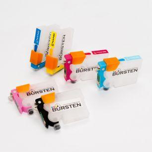 Перезаправляемые картриджи Bursten Nano 2 для Epson Stylus Photo 1410, T50, TX650, R270, R290, R390, RX610 (T0811N - T0816N) x 6 шт.