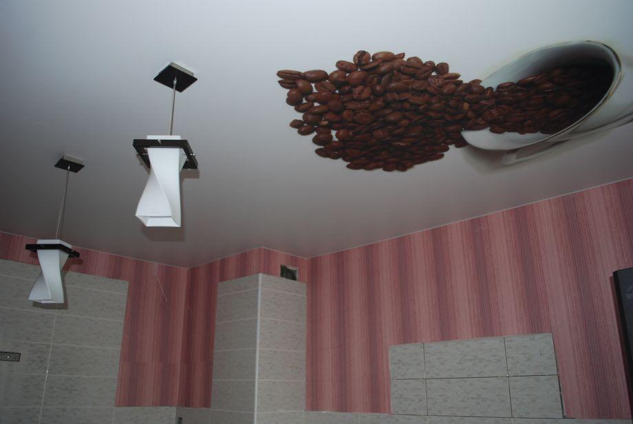 Натяжной потолок в кухню