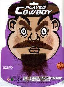 """Набор """"Ковбой"""". Усы, борода, брови."""