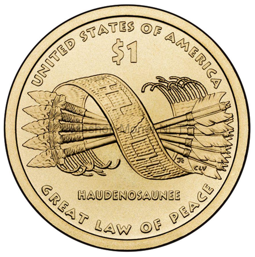 1 доллар США 2010 год Серия Доллар Сакагавеи Стрелы (Пояс Гайавата)