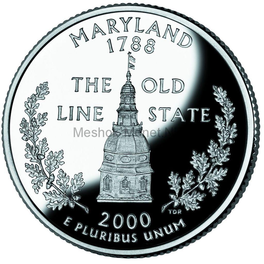 25 центов США 2000 штат Мэриленд