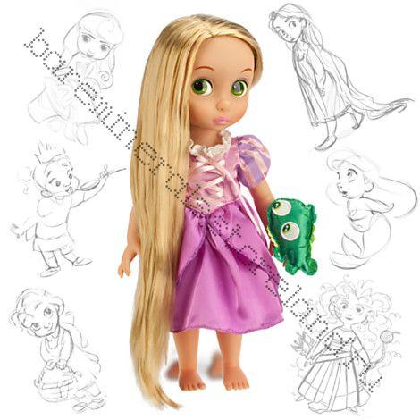 Кукла рапунцель в детстве с хамелионом 40 см 2016 год