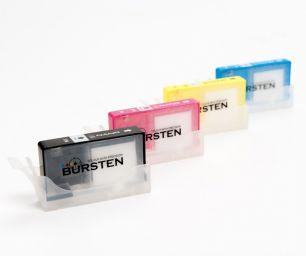 Перезаправляемые картриджи Bursten Nano для HP Officejet 6000, 6500, 7000, 7500 с картриджами HP 920 x 4 шт. С чипами.