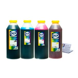Чернила OCP для принтера HP Deskjet Ink Advantage 3525, 4515, 4615, 4625, 5525, 6525 (BKP249, C343, M343, Y343), картридж HP 655, комплект 1000 гр. x 4