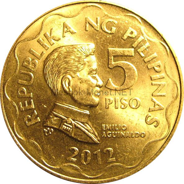 Филиппины 5 песо 2005 г.