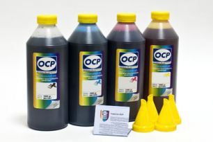 Чернила OCP для принтера HP B010b, B110, 3070A, 5510, 7000 (BKP249, C143, M143, Y143), картриджи HP 178, HP 121, HP 920, комплект 1000 гр. x 4