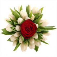 Свадебный букет из тюльпанов «Кружево»