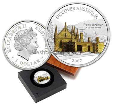 1 доллар 2007 года Австралия. Открой для себя Австралию. Порт Артур