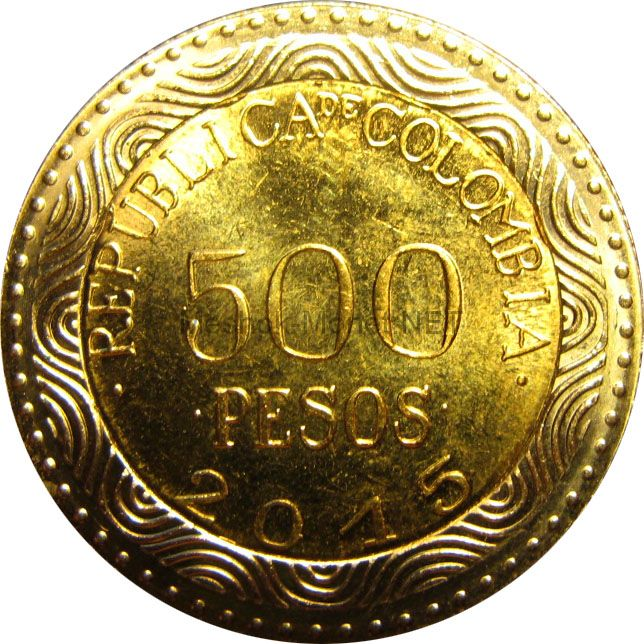 Колумбия 500 песо 2012 г.