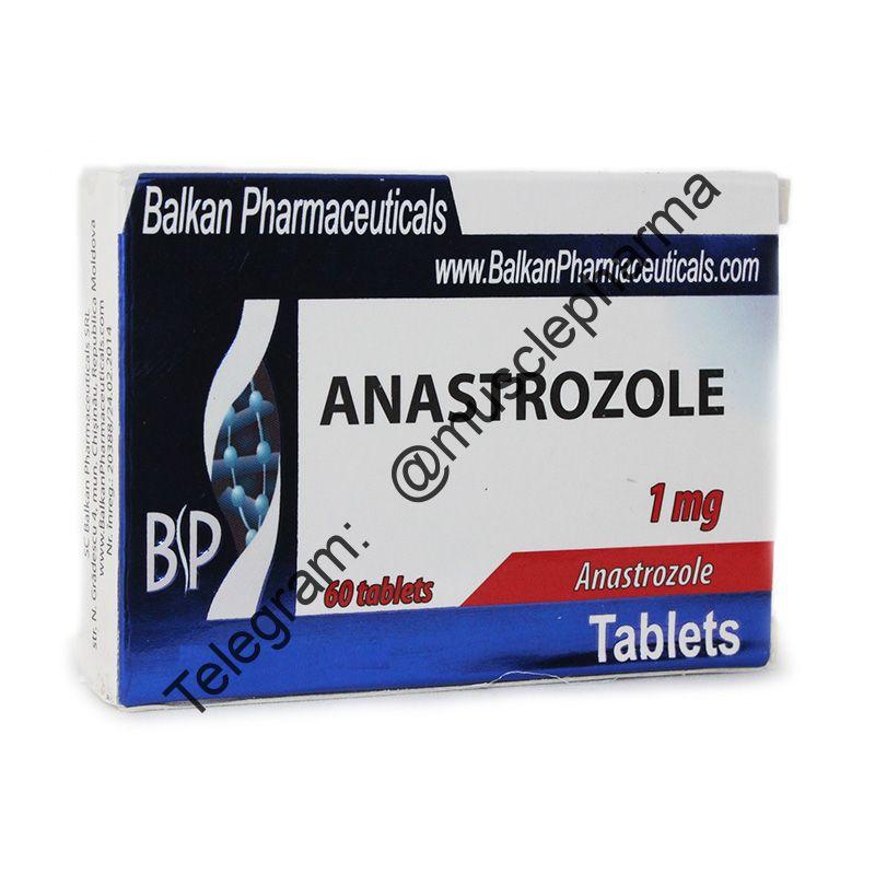 ANASTROZOL (АНАСТРОЗОЛ). BALKAN PHARMA. 20 таб. по 1 мг.