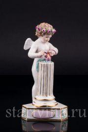 Соединение сердец, ангелочек, Meissen, Германия, 19 в., артикул 02394