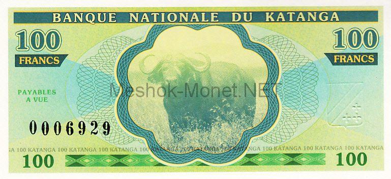 Банкнота Катанга 100 франков 2013 год