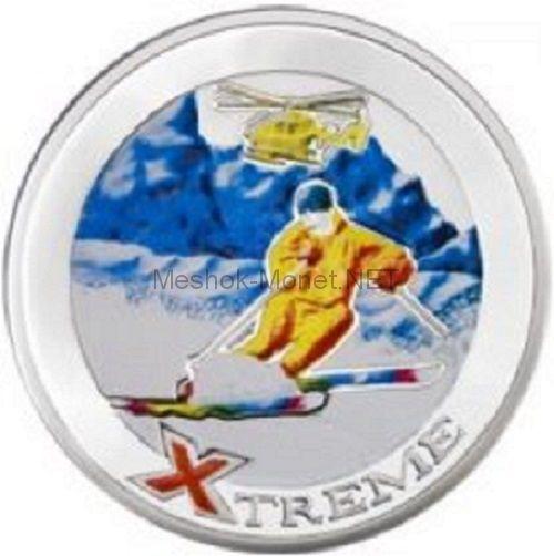 10 динар Андорры 2007 года. Экстрим. Горные лыжи.