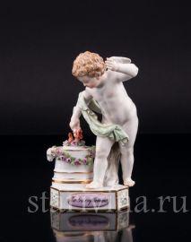 Ангелочек воспламеняющий сердца, Meissen, Германия, кон. 19 в., артикул 02568