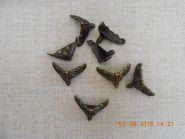 ножка металлическая (для шкатулок/комодов...) размер 20*25 мм цвет БРОНЗА