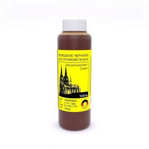 Универсальные цветные чернила Bursten (Герамния) для HP, Yellow, 100гр.