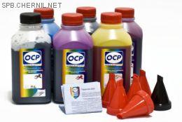 Чернила OCP для принтера и МФУ Canon MG7740, TS8040, TS9040 (BK35, BK130, BK153, C153, M153, Y153) Safe Set, комплект 500 гр. x 6