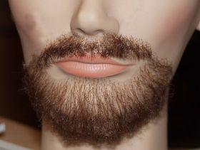 """Борода  с усами """"Интеллигент"""" темная, под заказ"""